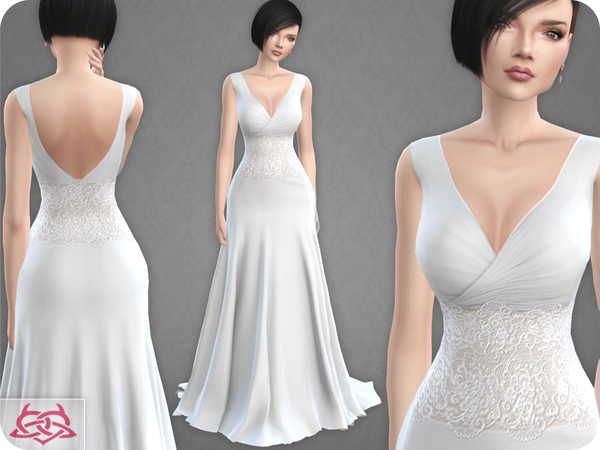 Wedding Dress 10 RECOLOR 1 by Colores Urbanos at TSR image 2030 Sims 4 Updates