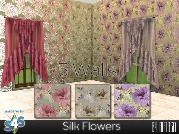 Sims 4 3 Silk Walls at Aifirsa
