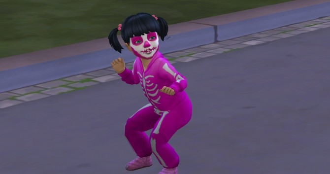 Sims 4 Spooky Stuff Skeleton Face Paint for Toddlers by TMNTFanGirl18 at Mod The Sims