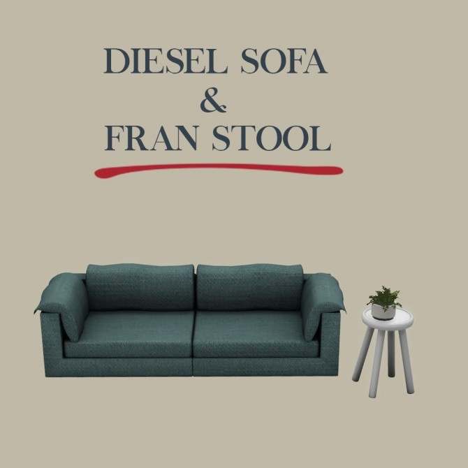 Diesel Sofa and Fran Stool Table at Leo Sims image 206 670x670 Sims 4 Updates