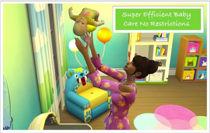 No Restrictions for Super Efficient Baby Care by zafisims at Mod The Sims image  Sims 4 Updates