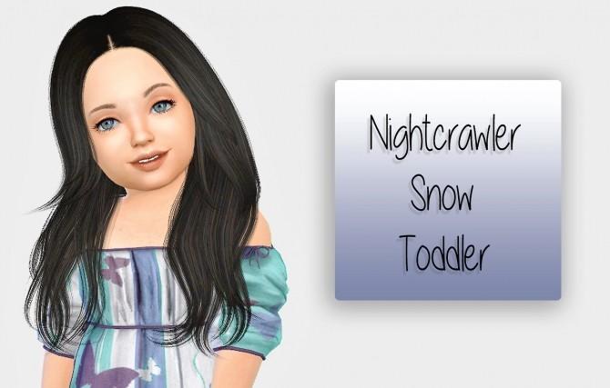 Nightcrawler Snow Hair Toddler Version at Simiracle image 213 670x427 Sims 4 Updates