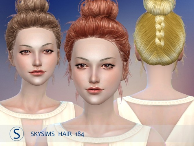 Hair 184 by Skysims (pay) at Butterfly Sims image 216 670x503 Sims 4 Updates