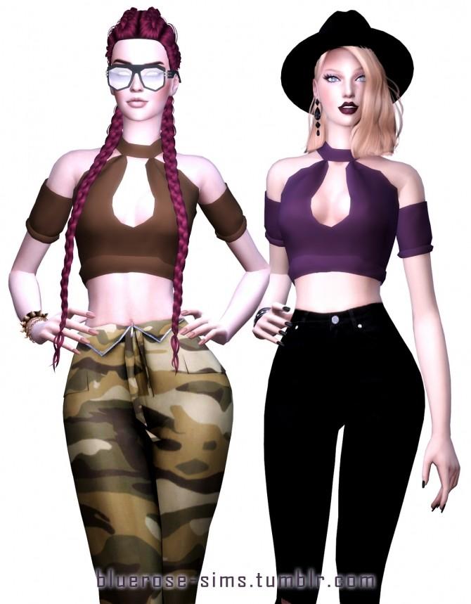 Sims 4 Leila Top at BlueRose Sims