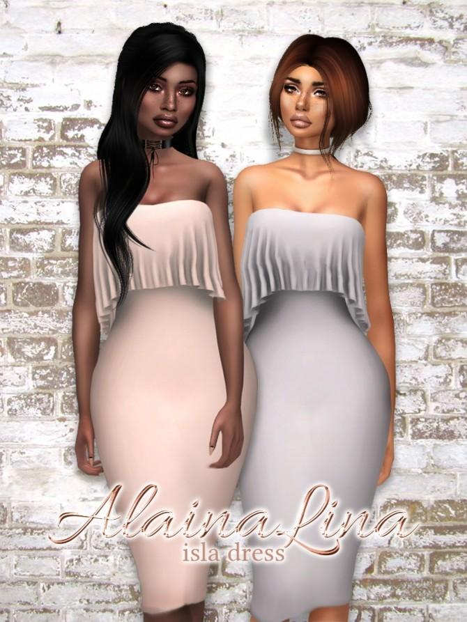 Sims 4 Isla Dress at AlainaLina