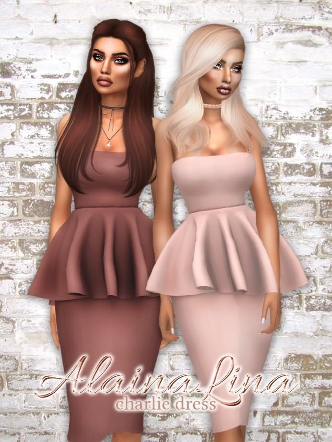 Sims 4 Charlie Dress at AlainaLina