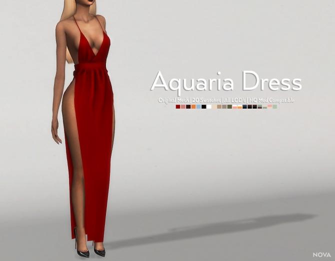 Aquaria Dress At Nova 187 Sims 4 Updates