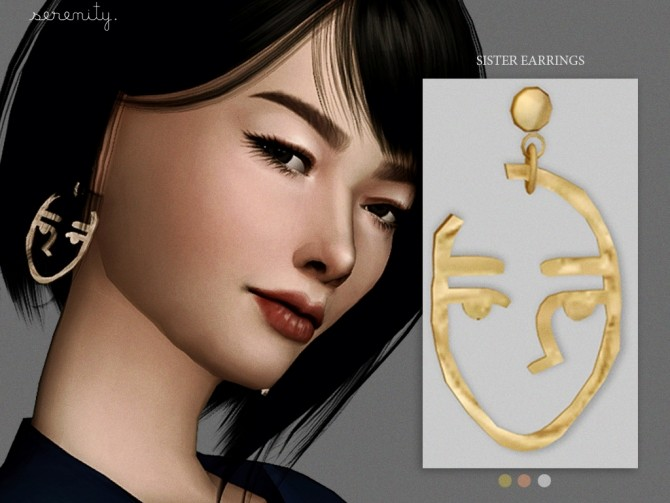 Sister Earrings at SERENITY image 232 670x503 Sims 4 Updates