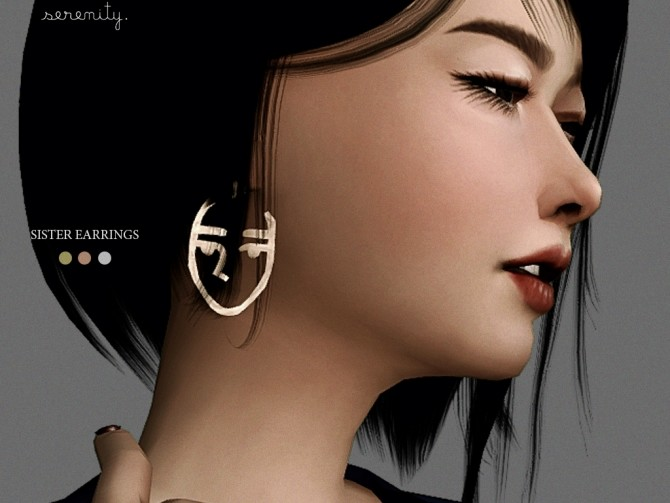 Sister Earrings at SERENITY image 233 670x503 Sims 4 Updates