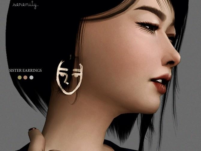 Sims 4 Sister Earrings at SERENITY