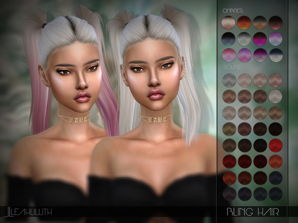 Bling Hair by Leah Lillith at TSR image 239 Sims 4 Updates