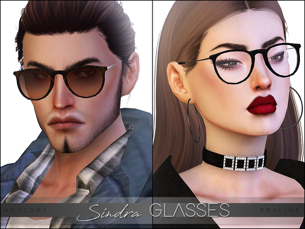 Sindra Glasses By Pralinesims At Tsr 187 Sims 4 Updates