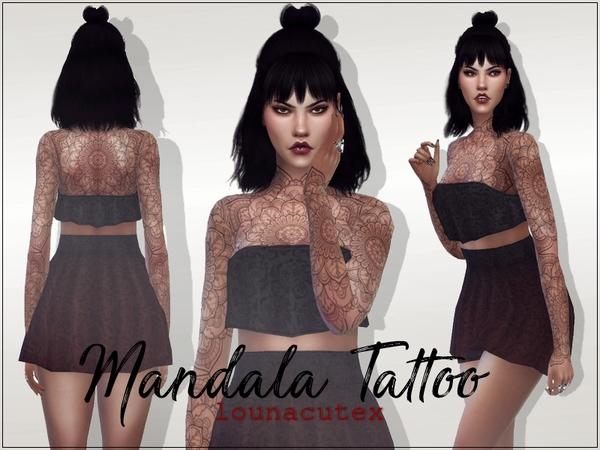 Mandala Tattoo by Louna at TSR image 2416 Sims 4 Updates