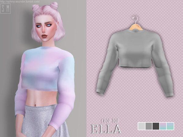 Ella Crop Top by Screaming Mustard at TSR image 2418 Sims 4 Updates