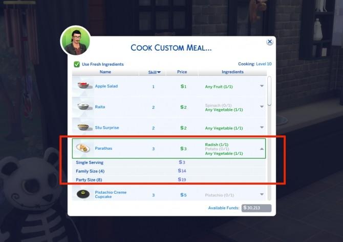 Custom Indian Food Paratha by icemunmun at Mod The Sims image 2431 670x472 Sims 4 Updates
