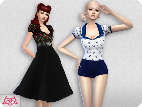 Sims 4 Matilde blouse RECOLOR 5 by Colores Urbanos at TSR