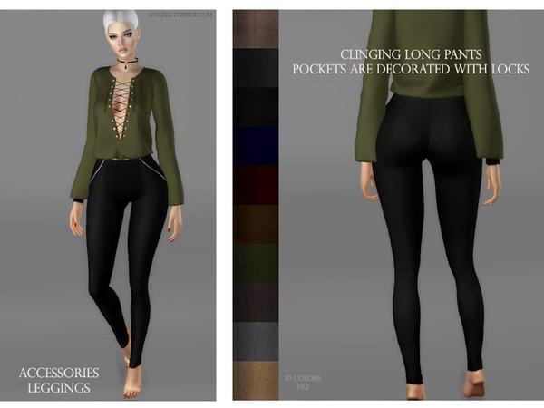Clinging long pants pockets are decor by ANGISSI at TSR image 2522 Sims 4 Updates
