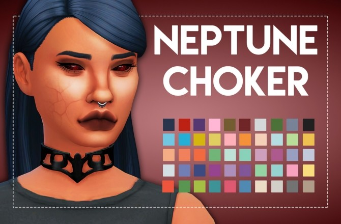 Neptune Choker by Weepingsimmer at SimsWorkshop image 256 670x440 Sims 4 Updates