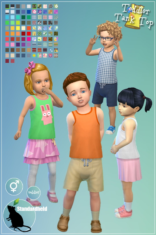 EAs toddler top recolor by Standardheld at SimsWorkshop image 257 Sims 4 Updates