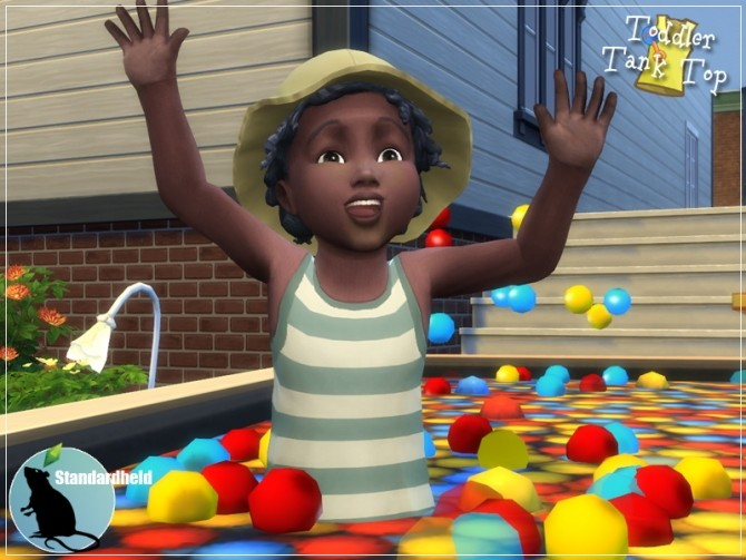 EAs toddler top recolor by Standardheld at SimsWorkshop image 258 670x503 Sims 4 Updates