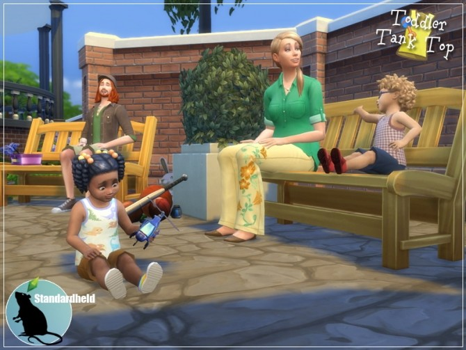 EAs toddler top recolor by Standardheld at SimsWorkshop image 259 670x503 Sims 4 Updates