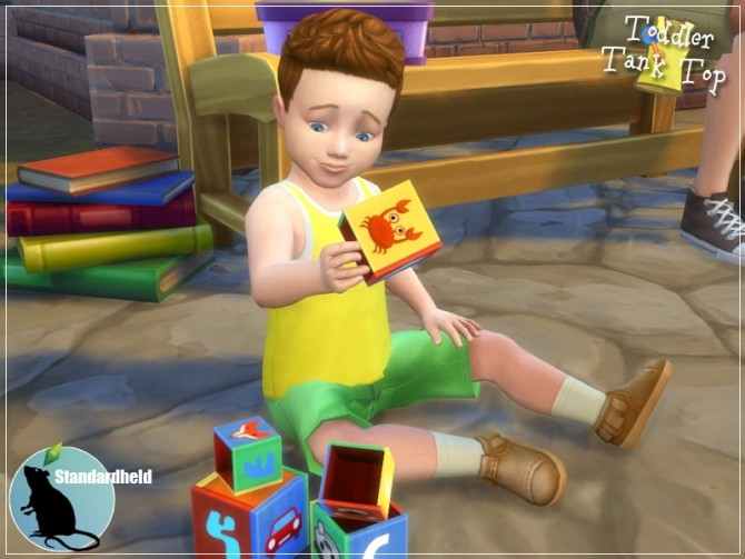 EAs toddler top recolor by Standardheld at SimsWorkshop image 260 670x503 Sims 4 Updates