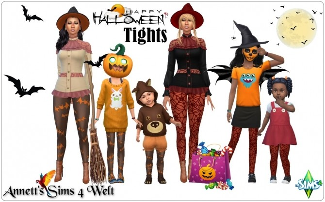 Happy Halloween Tights at Annett's Sims 4 Welt image 2642 670x417 Sims 4 Updates