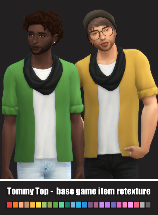 Sims 4 Tommy Top Retexture by maimouth at TSR