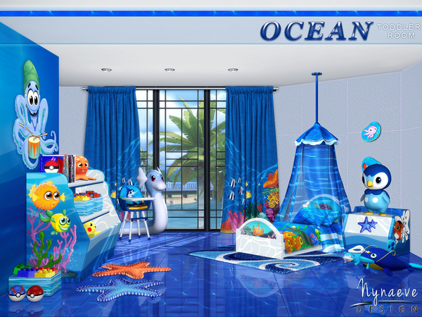 Ocean Toddlers bedroom by NynaeveDesign at TSR image 27 Sims 4 Updates