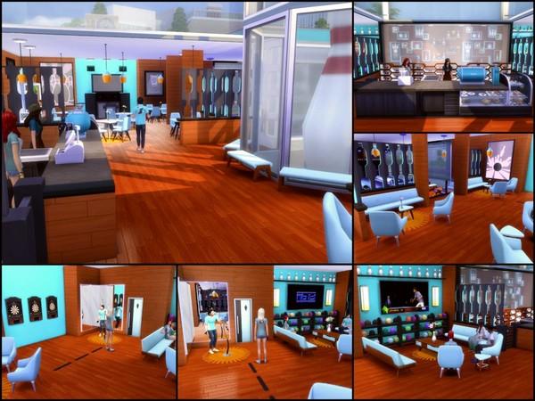 Sims 4 Pins Bar & Bowling Alley by sparky at TSR
