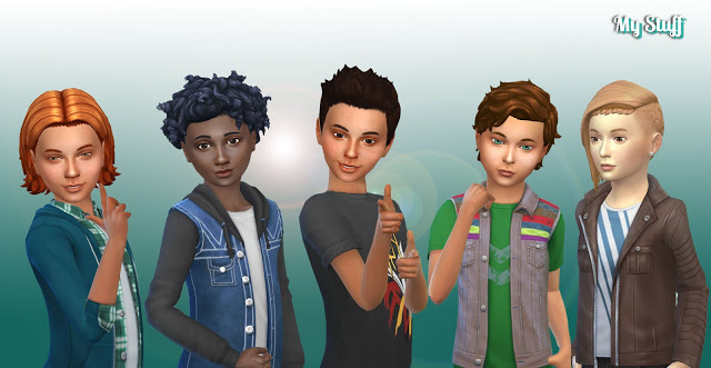 Sims 4 Boys Hair Pack 6 at My Stuff
