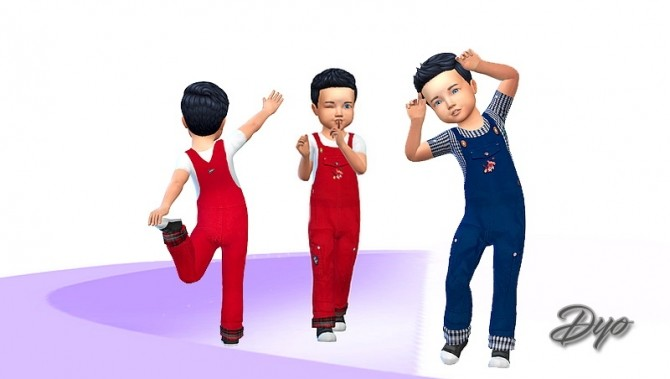 Sims 4 Overalls by Dyokabb at Les Sims4