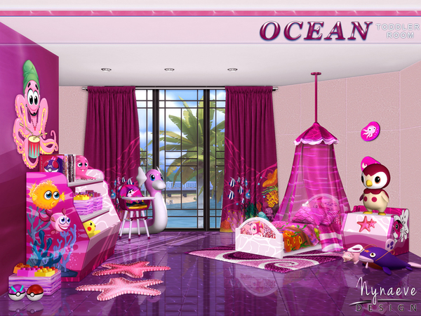 Ocean Toddlers bedroom by NynaeveDesign at TSR image 28 Sims 4 Updates
