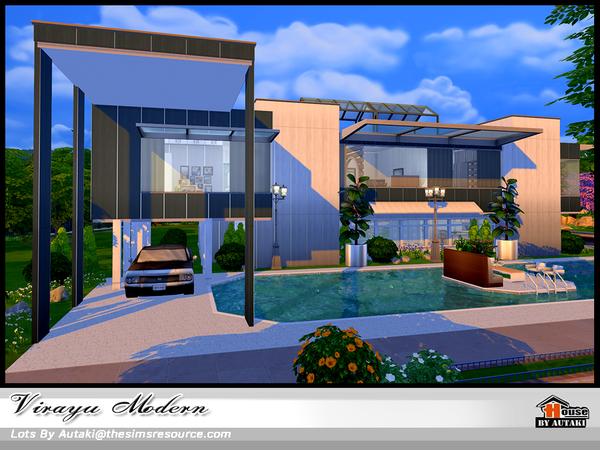 Sims 4 Virayu Modern house by autaki at TSR
