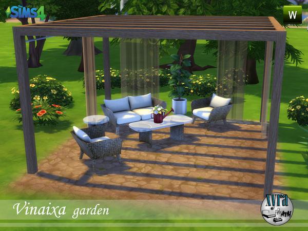 Sims 4 Vinaixa garden set by xyra33 at TSR
