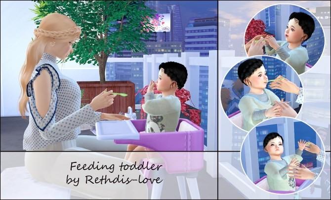 Feeding toddler posepack at Rethdis love image 287 670x405 Sims 4 Updates