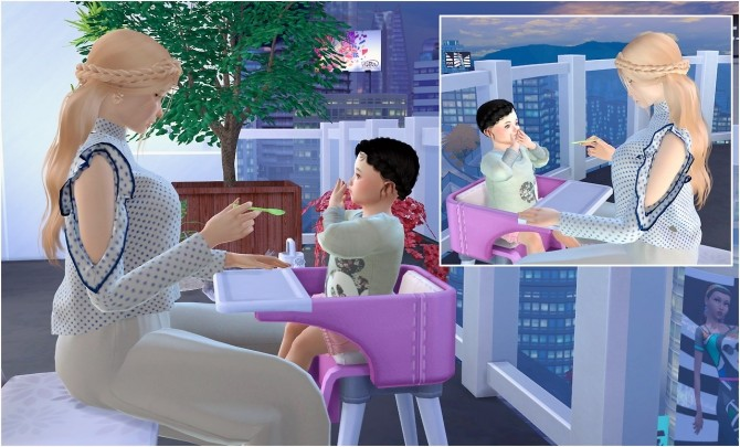Feeding toddler posepack at Rethdis love image 288 670x405 Sims 4 Updates