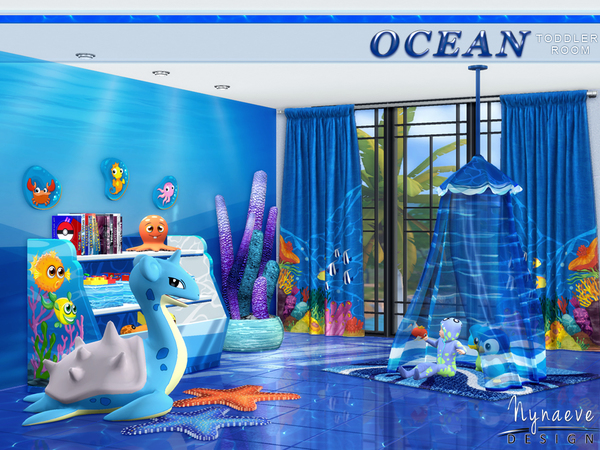 Ocean Toddlers bedroom by NynaeveDesign at TSR image 29 Sims 4 Updates