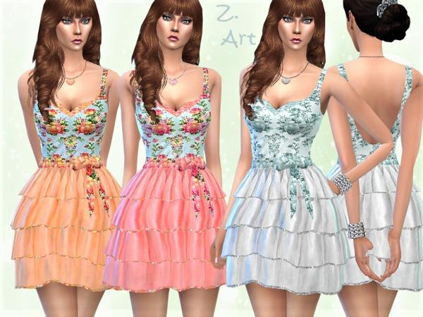 VintageZ 10 dress by Zuckerschnute20 at TSR image 291 Sims 4 Updates