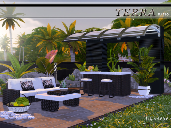 Sims 4 Terra Patio by NynaeveDesign at TSR