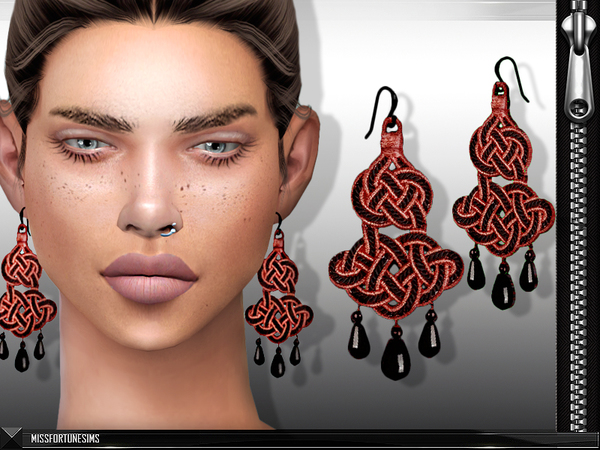Sims 4 MFS Roma Earrings by MissFortune at TSR