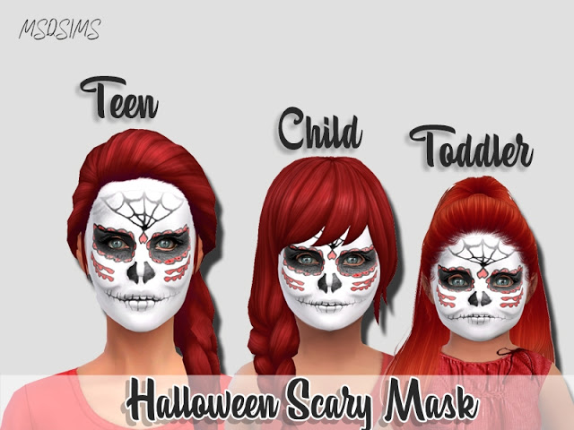 Halloween Scary Mask at MSQ Sims image 298 Sims 4 Updates