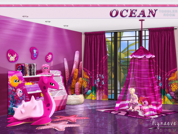 Ocean Toddlers bedroom by NynaeveDesign at TSR image 30 Sims 4 Updates