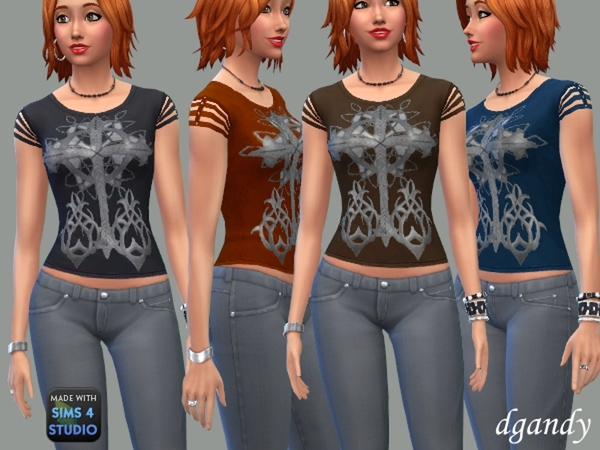 Sims 4 Celtic Art T Shirt by dgandy at TSR