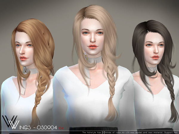 Hair OS0904 by WingsSims at TSR image 302 Sims 4 Updates