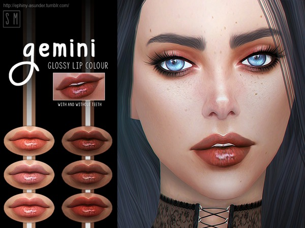 Gemini Glossy Lip Colour by Screaming Mustard at TSR image 303 Sims 4 Updates