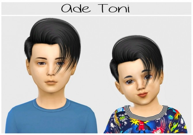 Sims 4 Ade Toni hair conversion at Simiracle