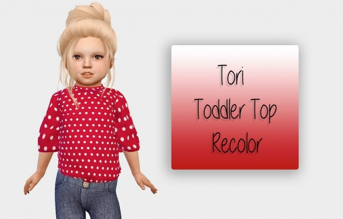 Sims 4 Tori Top Recolor at Simiracle