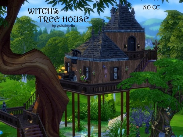 Witch's Tree House by galadrijella at TSR » Sims 4 Updates