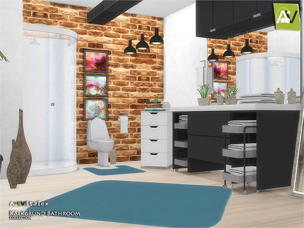 Kalkgrund Bathroom by ArtVitalex at TSR image 3100 Sims 4 Updates